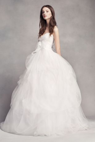 vera wang bridal long ballgown modern chic wedding dress - white by vera wang swgsngu