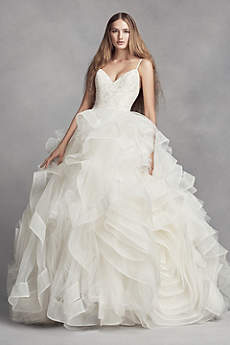 vera wang bridal long ballgown modern chic wedding dress - white by vera wang therpya