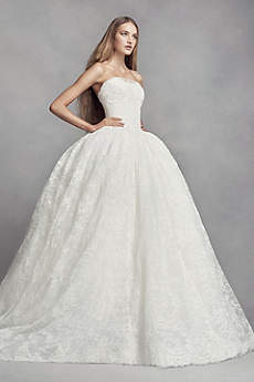 vera wang bridal long ballgown modern chic wedding dress - white by vera wang zfjjbsa