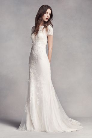 vera wang bridal long sheath wedding dress - white by vera wang mvpcoun