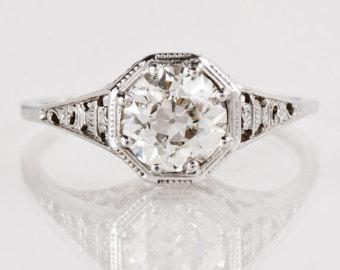 vintage engagement rings antique engagement ring - antique 1910u0027s 18k white gold diamond engagement  ring gpydxbm