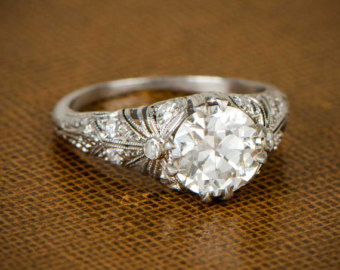 vintage engagement rings edwardian engagement ring. circa 1910 hipgdfx