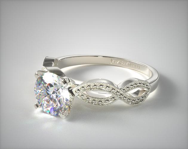 vintage engagement rings vintage infinity engagement ring | 14k white gold | 17985w14 mudjcki