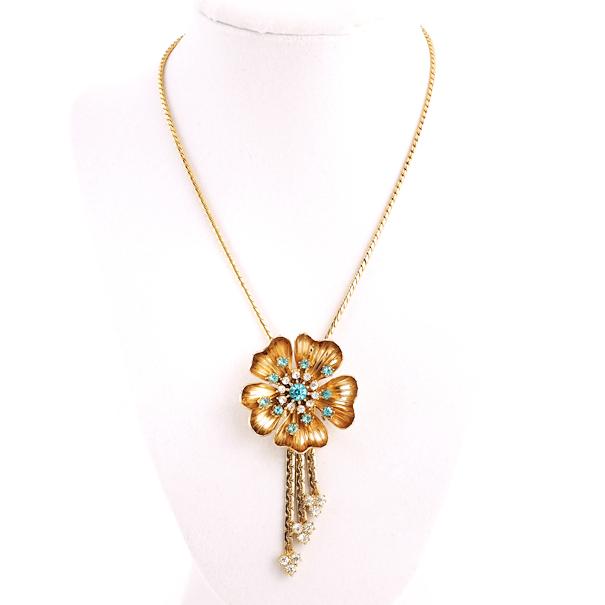 vintage flower necklace ngzwjdj