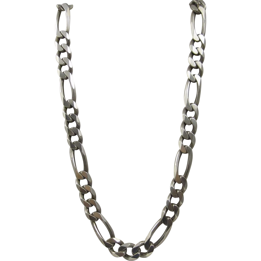 figaro men chain solid sterling s necklace mens silver