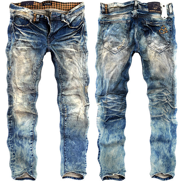 vintage jeans digreen 9099 vintage processing denim pants mens ☆ straight slim jeans jeans  bleach, mtwjhio