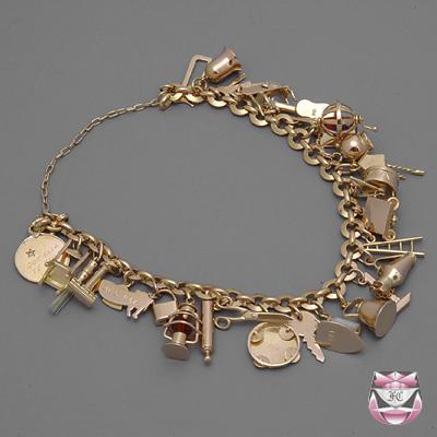 vintage rose gold charm bracelet ... ladywki