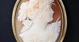 vintage shell cameo brooch/pendant gcnsqwc