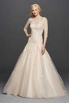 vintage wedding dresses long a-line vintage wedding dress - oleg cassini gkxuqzp