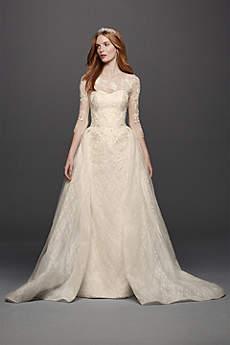 vintage wedding dresses long ballgown vintage wedding dress - oleg cassini thqlxet