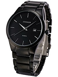 voeons menu0027s watches classic black steel band quartz analog wrist watch for  men juhxdnh