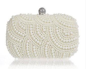 wedding bags top seller 2016 ivory pearl clutch bag, evening clutch, bridal clutch bag, wedding bmgzdhe