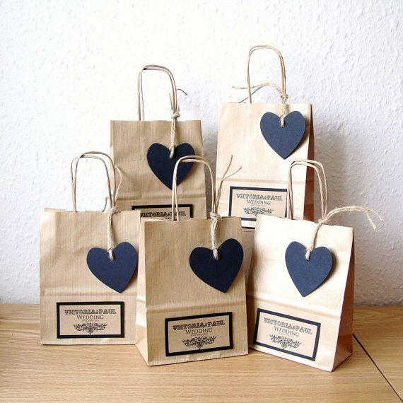 wedding bags wedding favour bags small with black heart tag by shintashop, £1.80 iavbapt