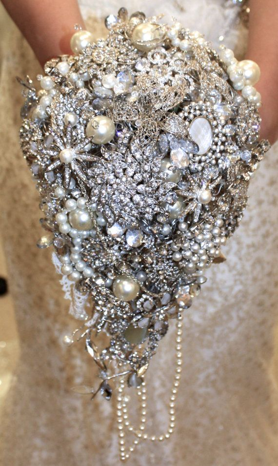wedding brooches large trailing wedding brooch bouquet wedding by flourishdevon oyysjnd