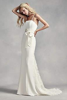 wedding dresses for the beach long sheath beach wedding dress - white by vera wang safigxy