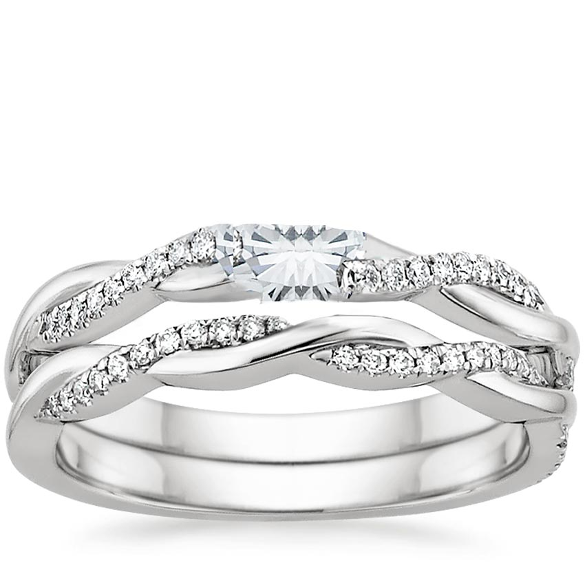 band art gold carat shaped matching moissanite jewellery ring deco milgrain wedding diamond white halo sets pear