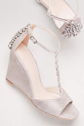wedge wedding shoes davidu0027s bridal apmetcd