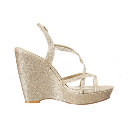 wedge wedding shoes dee by dyeables in gold dfbwgsx