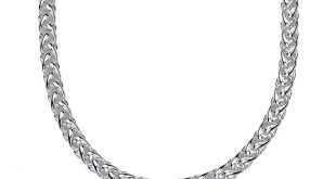 wheat chain necklace in sterling silver cdpaceq