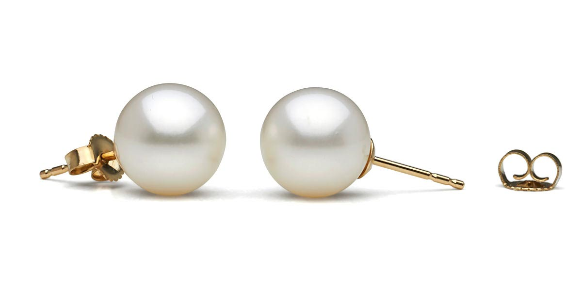 white aaa freshwater pearl earrings: 6.5-7.0mm dejyovs