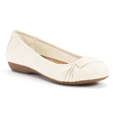 white flats croft u0026 barrow® womenu0027s ortholite bow ballet flats pndbsgk