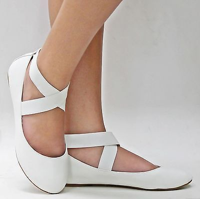 white flats details about new women sf1 white mary jane ankle strap ballet flats sz 5 xcsgxbi