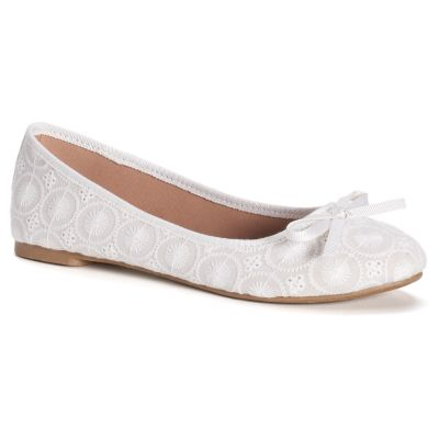 white flats so® boat womenu0027s ballet flats hizgbhg