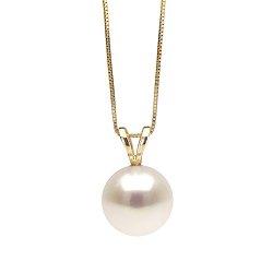 white freshwater classic pearl pendant, 7.0-10.0mm vmoeuiq