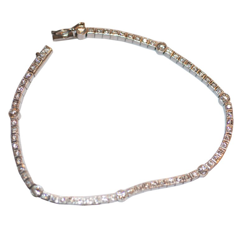 white gold bracelets art deco diamond white gold bracelet 1 dokebpi