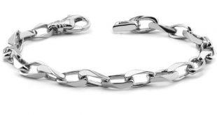 white gold bracelets menu0027s 14k white gold angular link bracelet tdocmjm