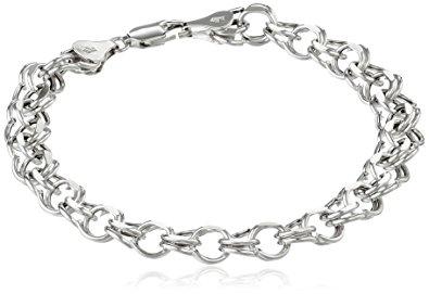 white gold charm bracelet 14k white gold 7mm charm bracelet, 7.25 ervhguj