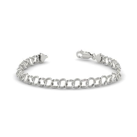 white gold charm bracelet 14wg - ld wiwgzqu