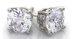white gold diamond earrings 0.70 ctw round diamond stud earrings in 14k white gold vs h ultyuew