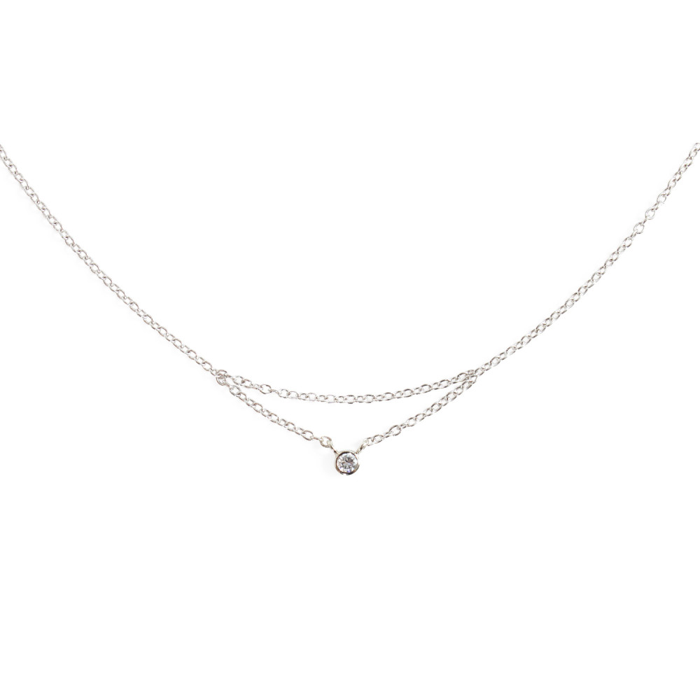 white gold necklace chained to my heart necklace, white gold skbyldr