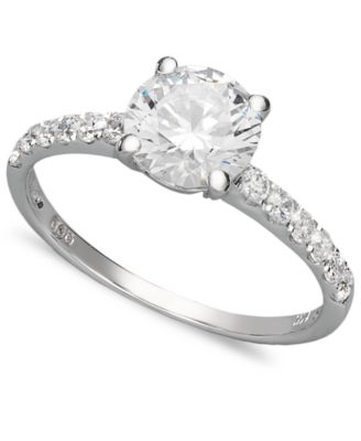 white gold rings arabella 14k white gold ring, swarovski zirconia wedding ring (2-3/4 yrievlt