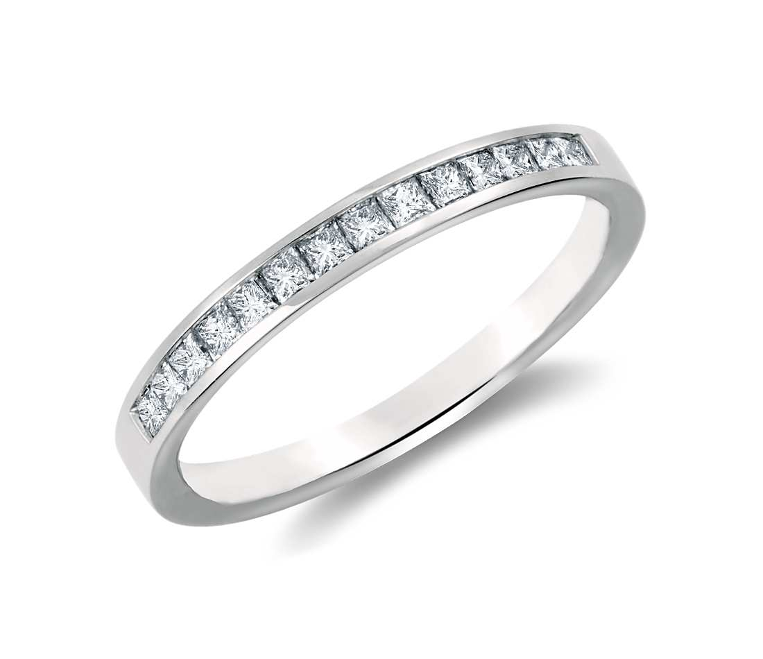 white gold rings channel set princess cut diamond ring in 14k white gold (1/3 ct. sxjxfjz