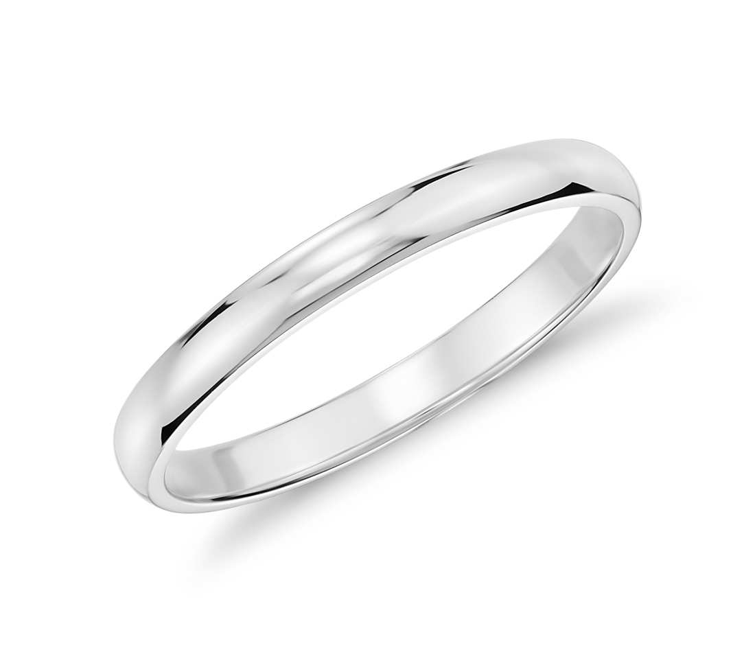 white gold rings classic wedding ring in 14k white gold (2mm) wwuzsae