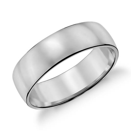 white gold rings classic wedding ring in 14k white gold (6mm) | blue nile hhlznmp