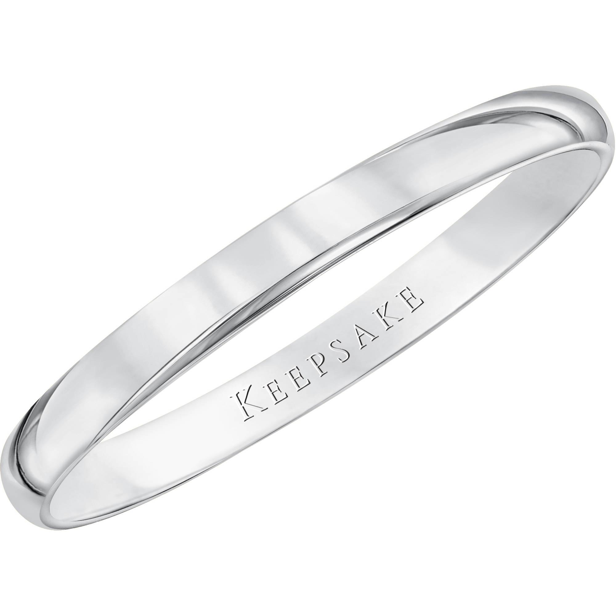 white gold wedding bands keepsake 10kt white gold wedding band with high-polish finish, 2mm jbdgzac