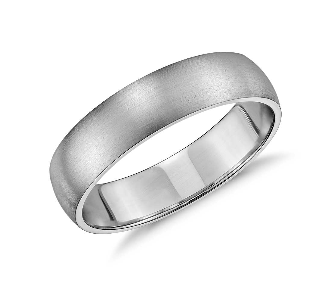 white gold wedding bands matte classic wedding ring in 14k white gold (5mm) elicxrp