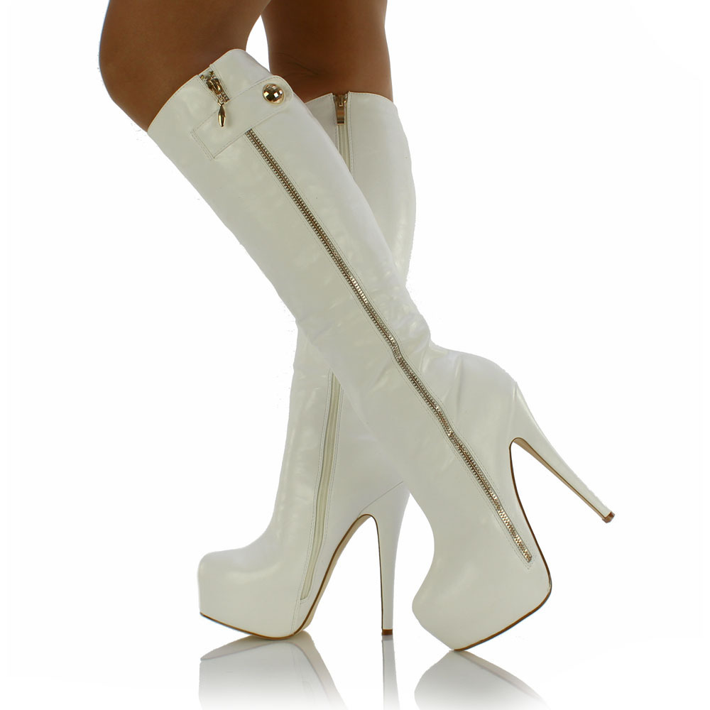 """3e2b0695bc6 10 Reasons Why White Knee High Boots Are """"Must Have"""" In This Season ..."""