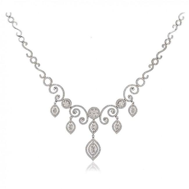 white necklace quick view. lqixyws