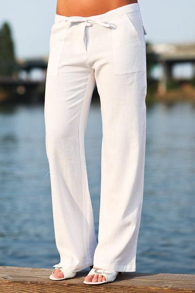 white pants for women island pant - basic low-cut drawstring linen pant - white - island importer yshedxb