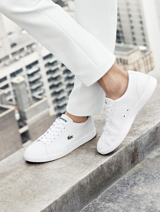 white shoes for men from the #lacoste #ss14 collection: ujtxroc