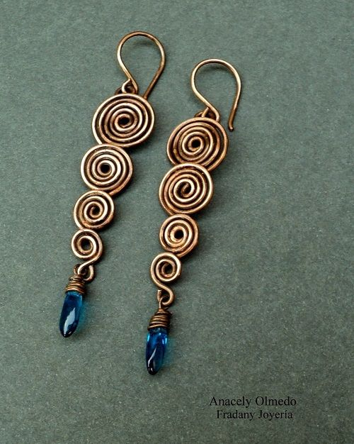 wire earrings the beading gemu0027s journal: spiral wire work earrings tutorial wrizydd