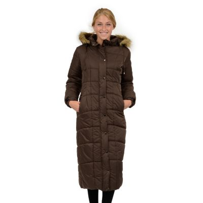 womenu0027s excelled hooded long puffer coat pytxveb