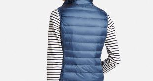 women ultra light down vest, navy, small jiquniw