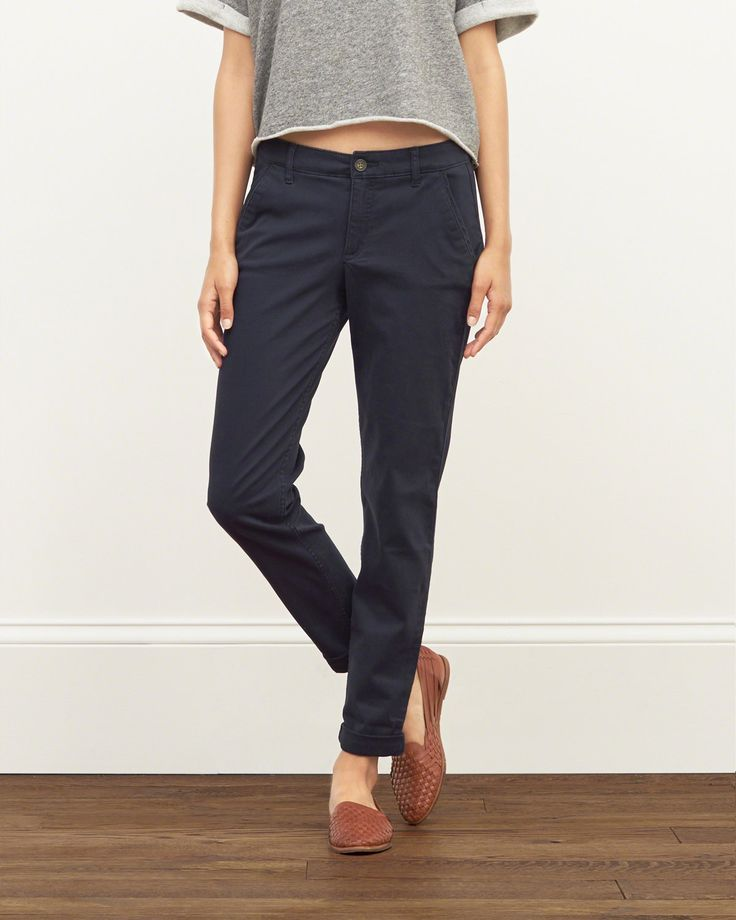 womens chinos classic au0026f chinos with a slim fit throughout, subtle stretch, front  pockets, button prievpg