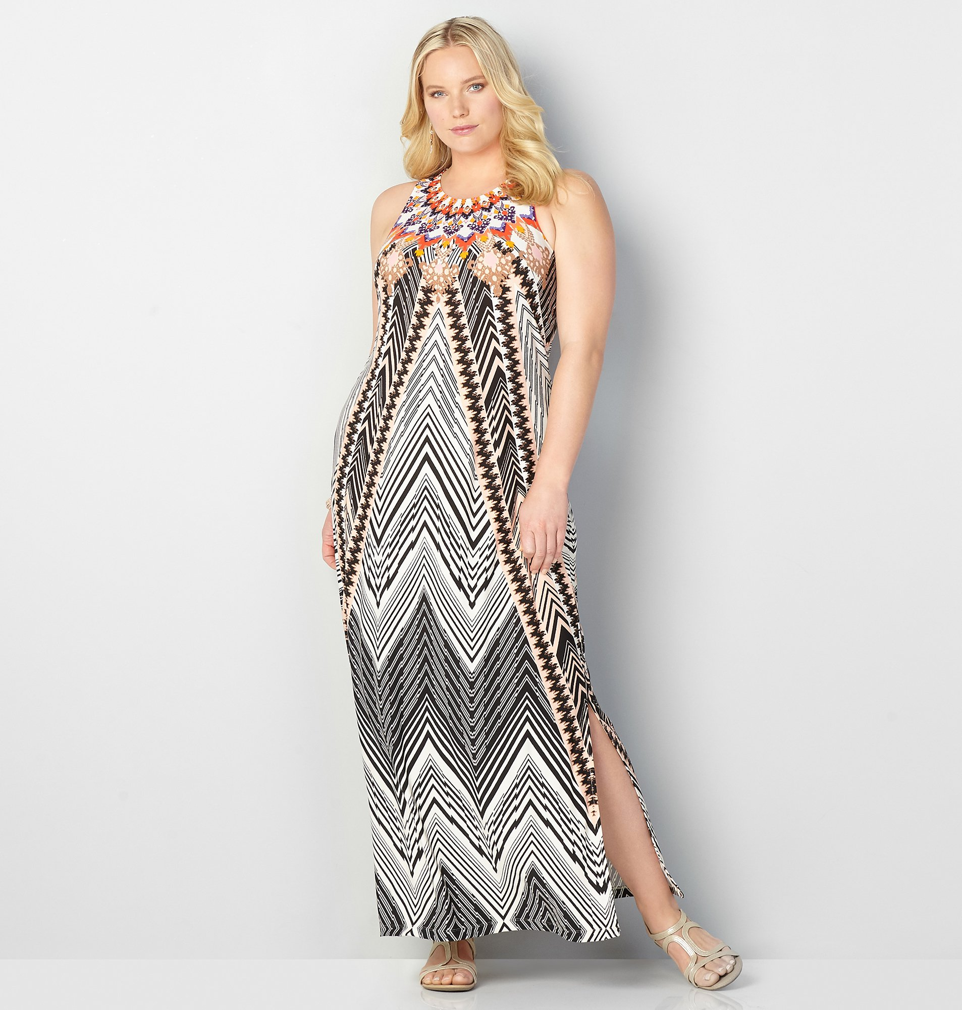 womens maxi dresses new tribal chevron maxi dress pkyyqfp
