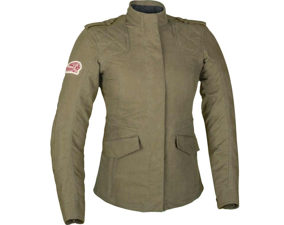 womens military jacket -khaki | indian motorcycle dvduojb